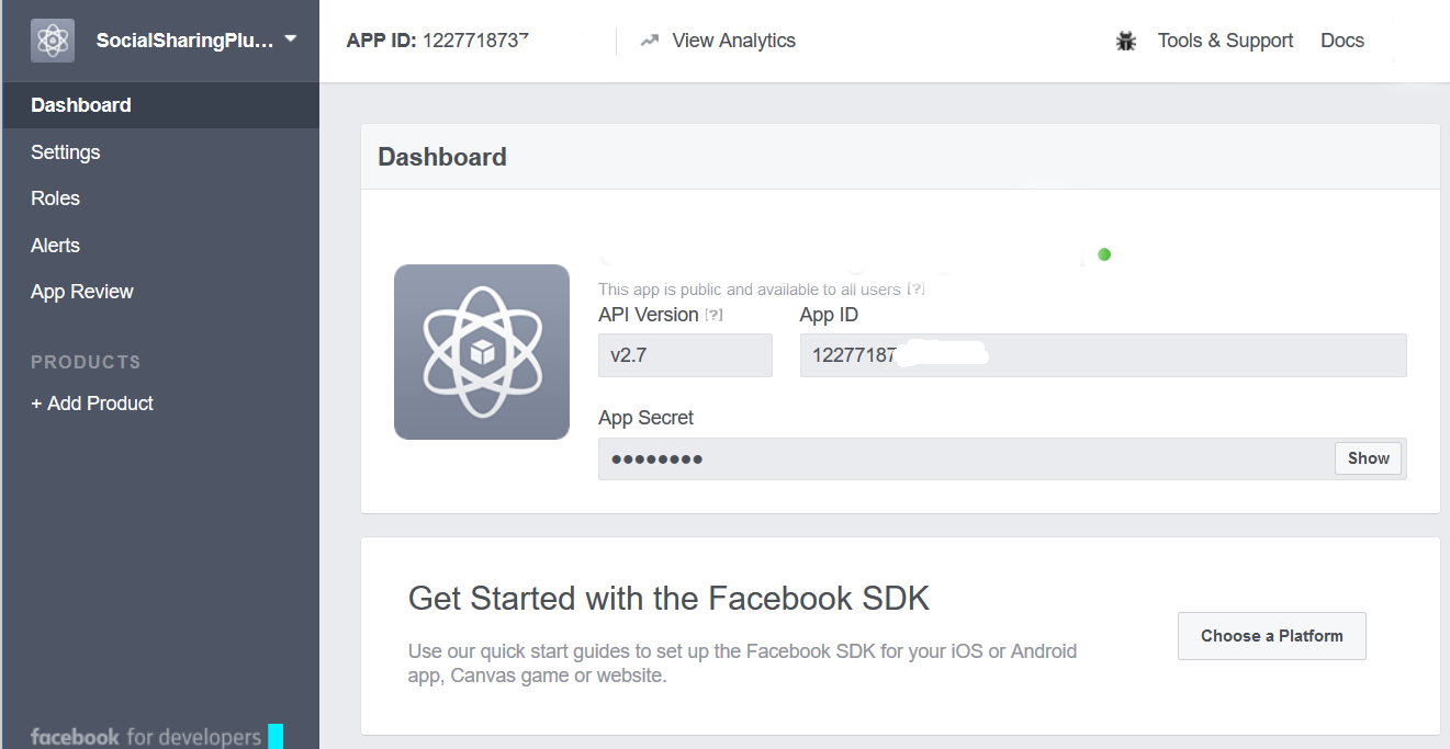 Facebook Application Access Token Generator